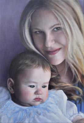 Mother and Son -  Paintings by Marlena Campbell